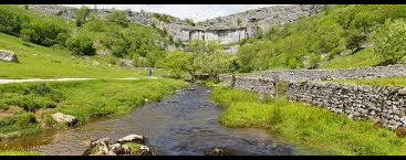 Riiver Aire running from the Malham Cove