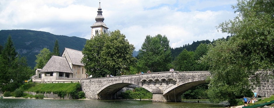 Sava bridge at Ribcev Laz