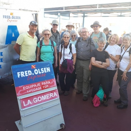 La Gomera - ready for the ferry crossing from Tenerife