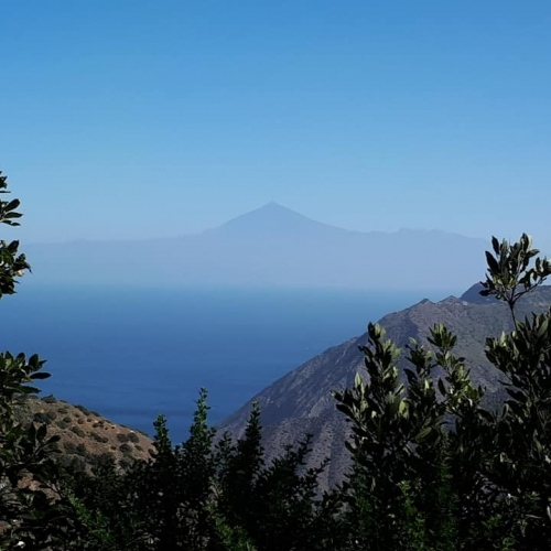 La Gomera -Teide in the distance