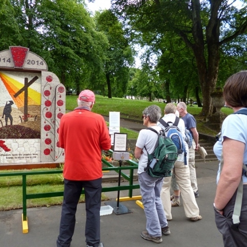 Well dressing Buxton Guided walking in Derbyshire Dales - well dressings