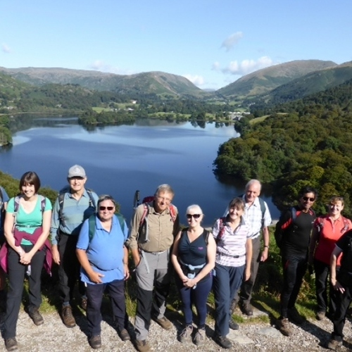 Guided walking in Lake District guided walking group near Grasmere