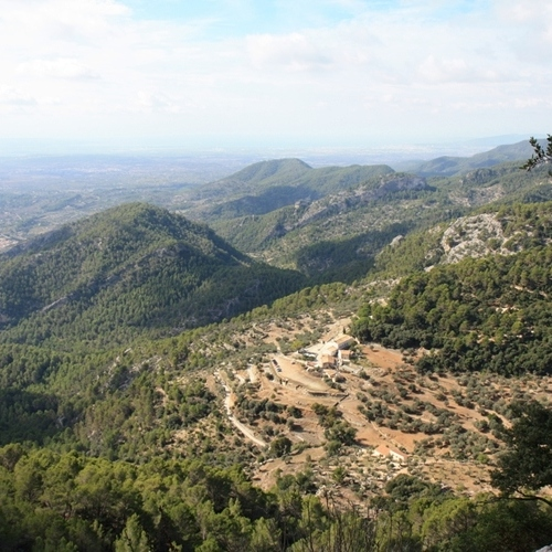 Guided walking in Majorca - a view from near Deia