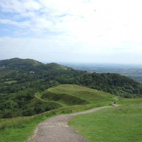 Guided walking in Malvern Hills - on the ridge