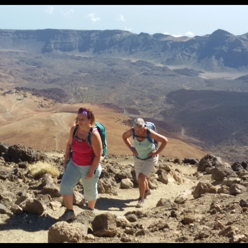 Tenerife - a nearing the summit - Tiede mountian