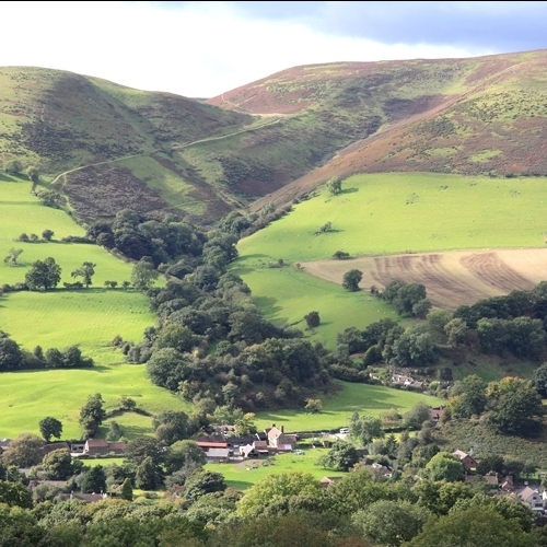 Guided walking in Shropshire Hills - near Little Stretton