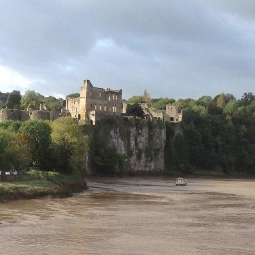 Chepstow Castle in the Wye Valley
