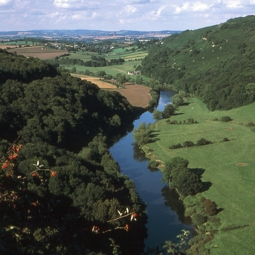 High view of the Wye Valley